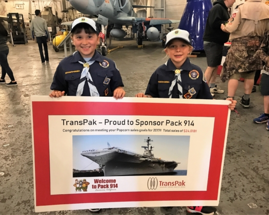 TransPak Sponsors BattleShip Sleepover for Cub Scouts image