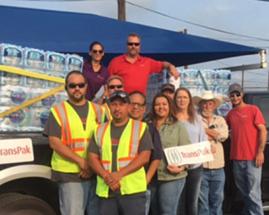 TransPak's Texas Locations Distribute Water following Hurricane Harvey image