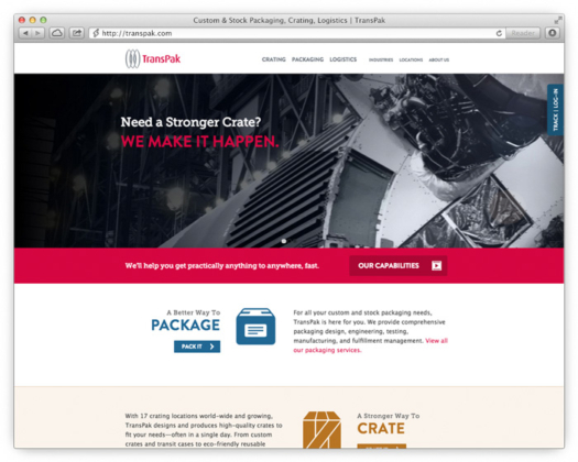 New TransPak Web Site Showcases Crating, Shipping and Logistics Capabilities image